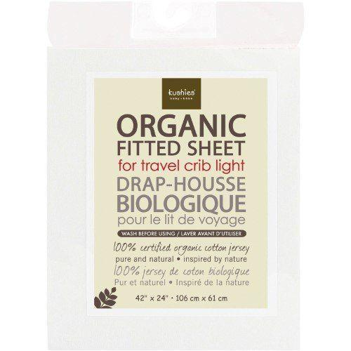 """Get it at <a href=""""https://jet.com/product/Kushies-Organic-Jersey-Fitted-Travel-Crib-Sheet-White/a8073cae2cfb414f8f63e7a4d0f04593"""" target=""""_blank"""">Jet for $24.50</a>."""
