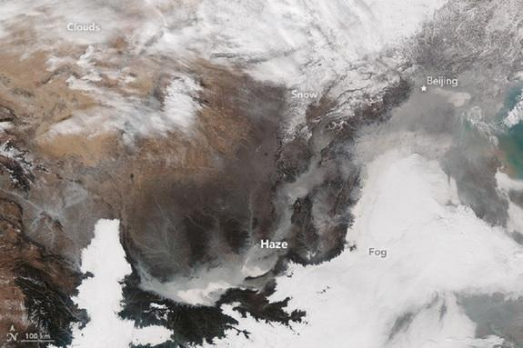 China's Latest 'Airpocalypse' Seen from Space