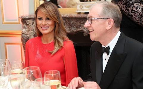 Melania Trump and Philip May - Credit: Chris Jackson - WPA Pool/Getty Images