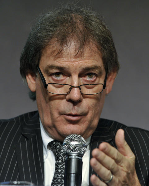 """FILE - This Feb. 22, 2011 file photo shows World Anti-Doping Agency director general David Howman speaking during a news conference at the European Union Sports Forum in Budapest, Hungary. The World Anti-Doping Agency would consider an amnesty for riders who confess to drug offenses even though the proposal by cycling's ruling body would take the sports world into """"uncharted territory."""" Howman told The Associated Press on Thursday, Sept. 13, 2012, he'll wait to see more details of the amnesty suggestion put forward last week by UCI President Pat McQuaid in the wake of doping cases involving Lance Armstrong and other riders. (AP Photo/Bela Szandelszky, File)"""