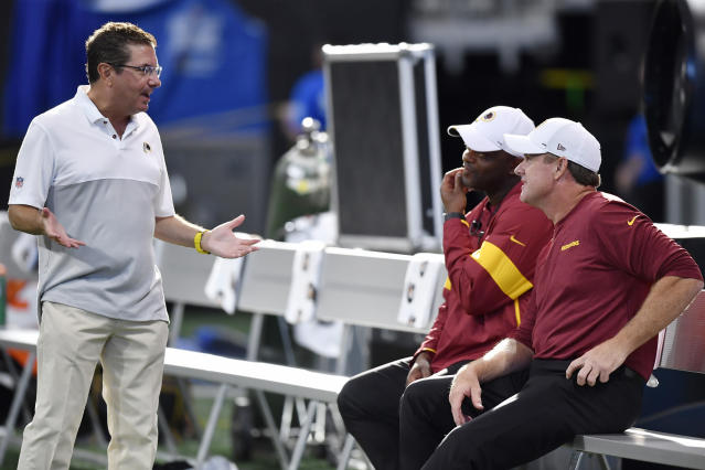 In the 21 years of Daniel Snyder's ownership, the Washington Redskins have made the playoffs just five times, including just twice in the 2010s. (AP)
