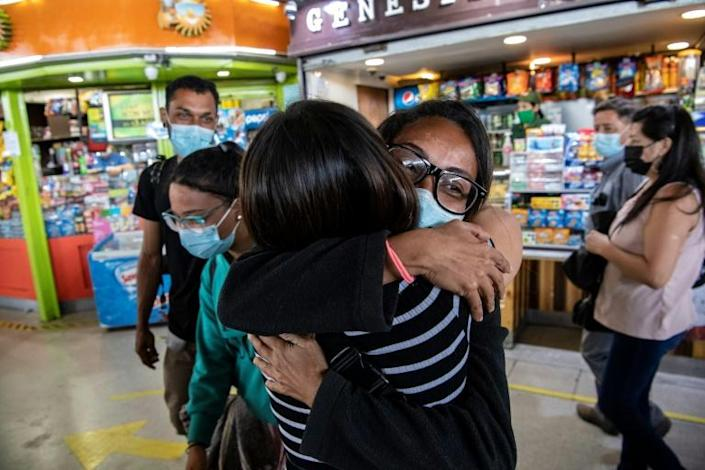 After a month-long ordeal, Anyier and her family reached Santiago where she was welcomed by her sister