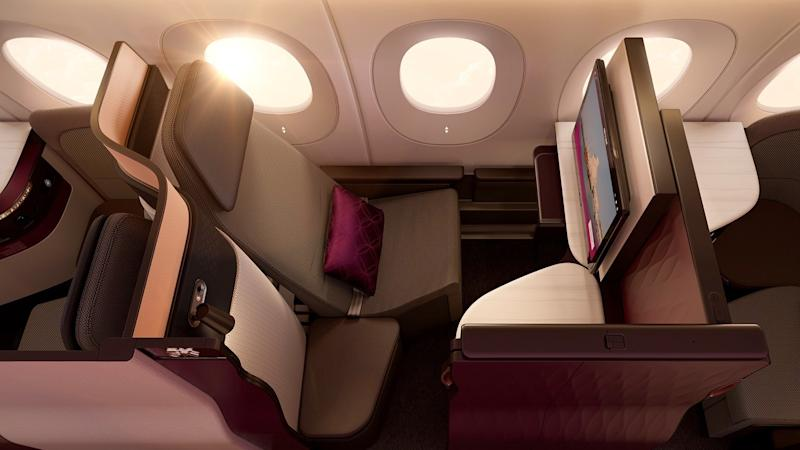 Qatar Airways' Business Class 'QSuites' Offer Double Beds
