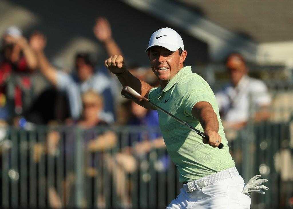 Rory McIlroy has returned to the world's top 10 after a victory at Bay Hill on March 19, 2018 (AFP Photo/Mike Ehrmann)