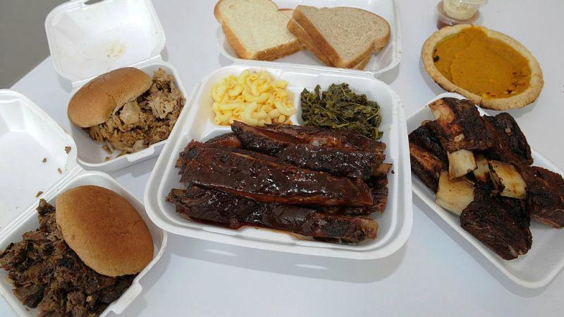 a glorious spread of american barbecue