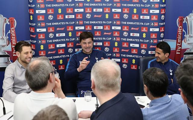 "Mauricio Pochettino believes that only winning the Premier League or the Champions League will take Tottenham Hotspur to a ""different level"" as he prepares for Saturday's FA Cup semi-final against Manchester United. The Spurs manager also reiterated his long-held belief that success in a domestic cup competition is secondary to the overall work he has done at the club in pursuit of the bigger prizes. ""It would be fantastic to win the FA Cup,"" Pochettino said. ""But is it going to change our life? I don't believe so. I promise you the club is not going to change if you win or don't win the FA Cup or the League Cup. ""It would be fantastic to add that trophy to the club but what would put us to a different level would be to win the Premier League or Champions League. That is going to put you in a different level."" Although Pochettino is yet to win a major trophy in his managerial career he is dismissive of the notion that he needs to do so, believing it is too simplistic. Instead he prefers to look at the overall body of work he has accomplished, not least at Spurs. Who is your Premier League manager of the year? Our writers have their say ""The problem is the short memory that people sometimes have,"" the 46-year-old said. ""When we arrived here four years ago, all that people were talking about was to reduce the gap to the top four and the challenge was to play Champions League. ""Remember your questions? It was if we are not capable to play Champions League or in Europe – first of all, it was in Europe – 'How can we retain our best players?' And then 'How can we attract good players?'"" Facing Pochettino at Wembley on Saturday is United manager Jose Mourinho, who has built his reputation on being the ultimate trophy-hunter, driven by the desire for more silverware. Pochettino puts himself under intense pressure to win Credit: Getty Images While Pochettino said he puts himself and his players under ""massive"" pressure to win, he also wants to look at the bigger picture. Nevertheless, Spurs are acutely aware that they have lost their previous seven FA Cup semi-finals – most recently against Chelsea last season. However, Pochettino added: ""Every press conference you ask (about winning trophies). Always my answer is, 'Yes, I agree, and if we are capable to win the Premier League and the Champions League, it is a moment you say the team has improved and reached the next level'. Until that, win the FA Cup or the League Cup, it will be fantastic for our fans but is not going to move the club to a different level. ""That is my opinion. Some people respect it, some people don't. I respect all opinions. I want to play to win the Premier League and Champions League. It is my vision, I want to play to win the Premier League, I want to win the Champions League. If we can play to try to win the FA Cup, then fantastic. ""If you are going to change the vision or put the club in a different level, you must compete to win the Premier League and then to compete and then win the Champions League."""