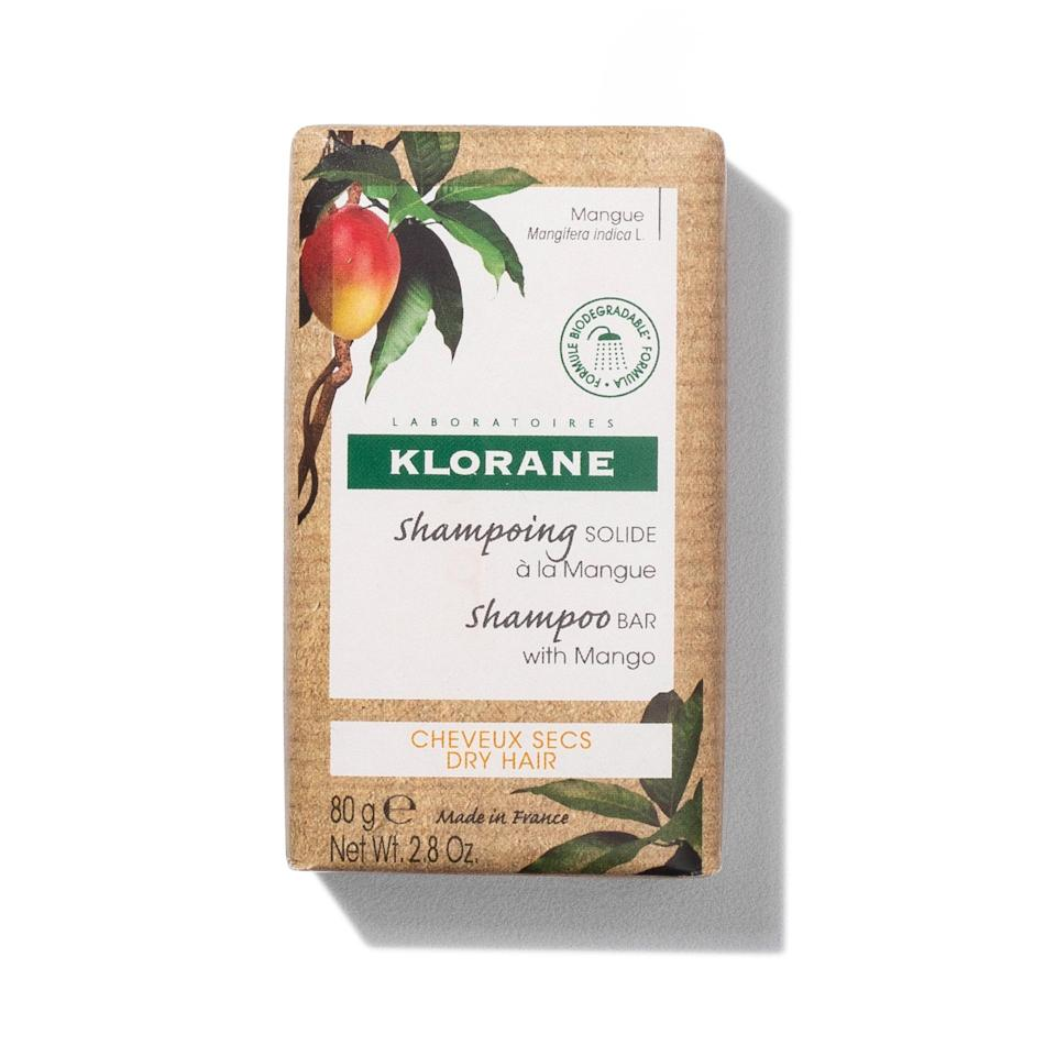 """Klorane's <a href=""""https://www.allure.com/gallery/ten-dry-shampoos-under-20?mbid=synd_yahoo_rss"""" rel=""""nofollow noopener"""" target=""""_blank"""" data-ylk=""""slk:dry shampoo"""" class=""""link rapid-noclick-resp"""">dry shampoo</a> is pretty iconic among <a href=""""https://www.allure.com/gallery/allure-favorite-skin-makeup-hair-products-under-30?mbid=synd_yahoo_rss"""" rel=""""nofollow noopener"""" target=""""_blank"""" data-ylk=""""slk:editors and stylists"""" class=""""link rapid-noclick-resp"""">editors and stylists</a>. The brand's newest hair cleanser, this Shampoo Bar With Mango, is sure to follow in its footsteps as a rising star in hair-care regimens. Mango butter does the deep-moisturizing work, and the nearly three-ounce bar will get you through 32 hair washes."""