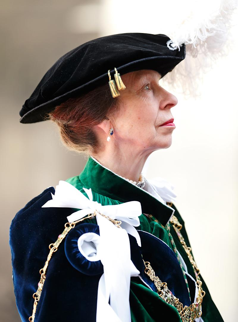 Princess Anne at St Giles' Cathedral's Thistle Service in Edinburgh, July 2016.