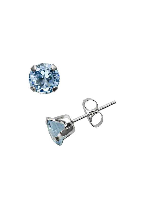 """<p>The name of this stone is an apt one, as it appears in beautiful cool aqua blue tones and is the birthstone for many birthdays falling in the Pisces, or fish, sign of the zodiac. </p> <p>White Gold Lab-Created Aquamarine Stud Earrings</p> <p>Buy it: $150, <a href=""""http://kohls.sjv.io/c/249354/362118/5349?subId1=SL%2CRX_1910_March%253AAquamarine%2Crogersc%2C%2CIMA%2C644918%2C201910%2CI&u=https%3A%2F%2Fwww.kohls.com%2Fproduct%2Fprd-1258749%2F10k-white-gold-lab-created-aquamarine-stud-earrings.jsp%3FprdPV%3D1"""" target=""""_blank"""">kohls.com</a></p>"""