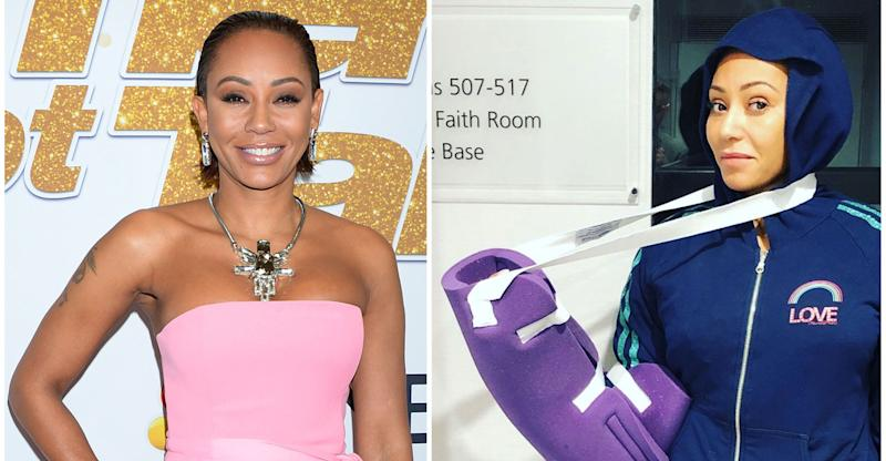 Mel B has surgery after breaking ribs and injuring hand