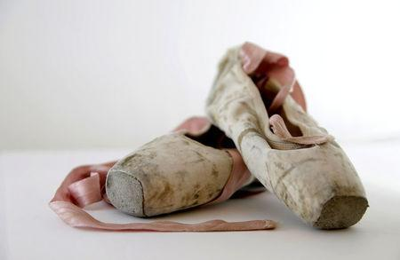 FILE PHOTO: Ballet shoes are seen at the Bosnian War Childhood museum exhibition in Zenica, Bosnia and Herzegovina, June 21, 2016. REUTERS/Dado Ruvic/File Photo