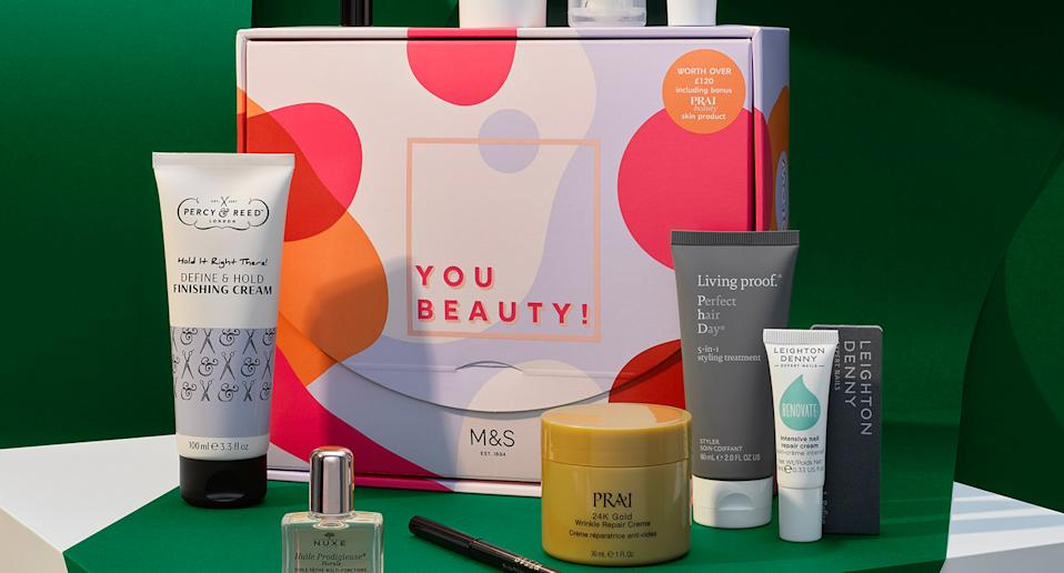 The M&S £20 beauty box is back. (Marks & Spencer)
