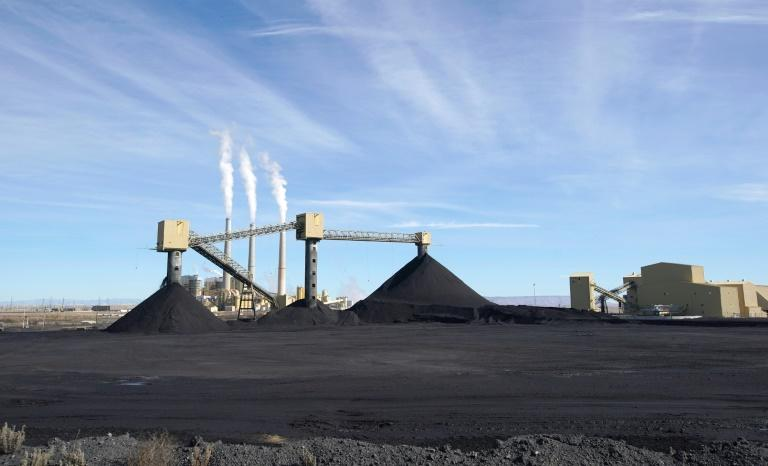 US coal fired power output is falling sharply as renewables come on line to replace plants like Pacificorp's Hunter facility in Utah