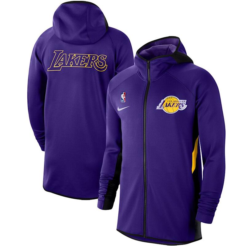 Lakers Nike Authentic Therma Full-Zip Hoodie