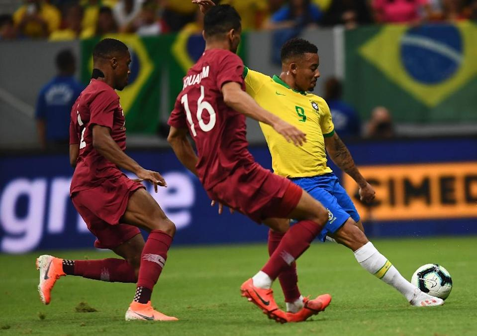 Asian champions and 2022 World Cup hosts Qatar lost 2-0 to Brazil in a pre-Copa America friendly ahead of their tournament debut (AFP Photo/EVARISTO SA)