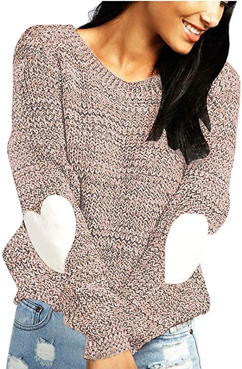 <p>Wear your heart on your sleeve (literally) with this <span>Shermie Cute Heart Pattern Patchwork Sweater</span> ($23-$28).</p>