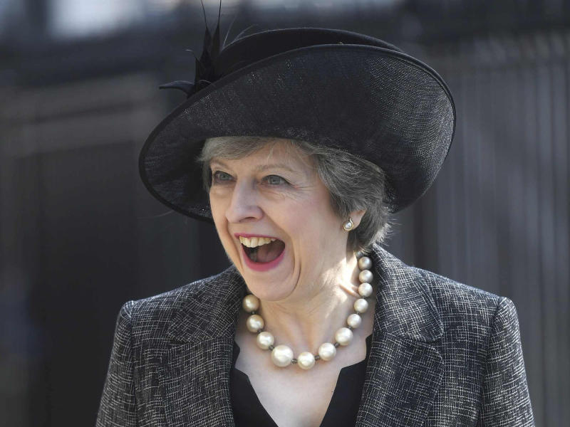 Theresa May arrived late in Brussels after attending the unveiling of a memorial to military victims of recent wars: Reuters