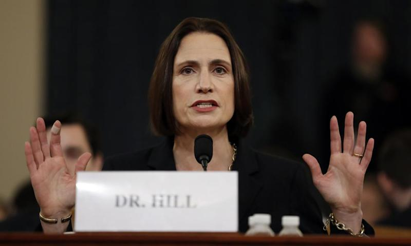 Fiona Hill testifies before the House intelligence committee.