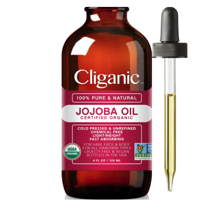Cliganic Organic Jojoba Oil. Image via Amazon.