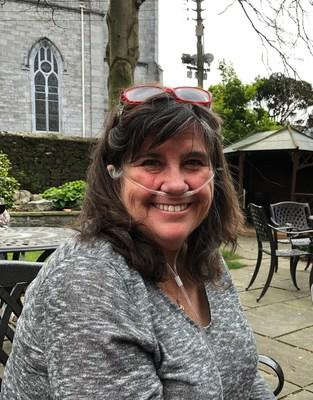 Rumson resident Susan Boyce, who has a progressive, terminal genetic disease called Alpha-1 Antitrypsin Deficiency. The disease requires Boyce to use an oxygen tank because her lung function is below 30 percent.