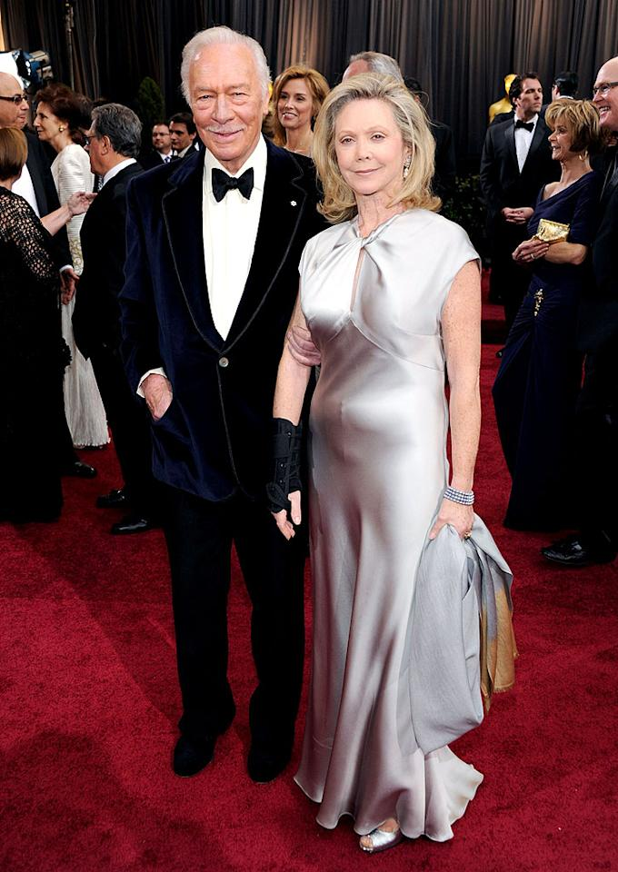 Christopher Plummer and Elaine Taylor arrive at the 84th Annual Academy Awards in Hollywood, CA.
