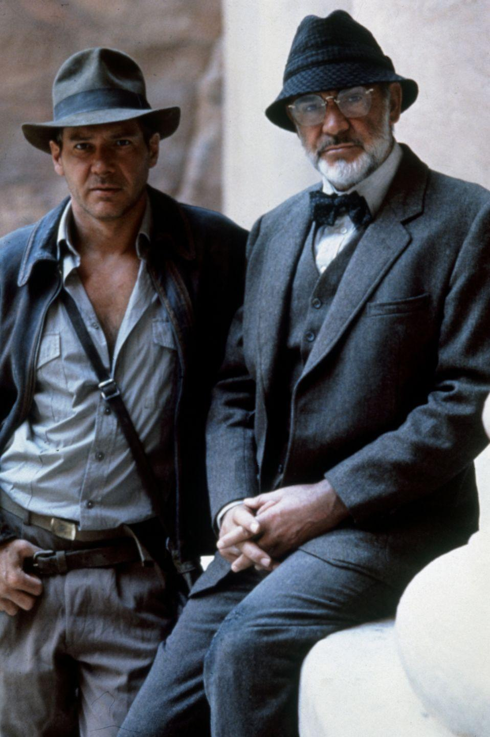 <p>Sean Connery as Indiana Jones's father Henry Jones in a publicity still for Indiana Jones and the Last Crusade, 1989</p>
