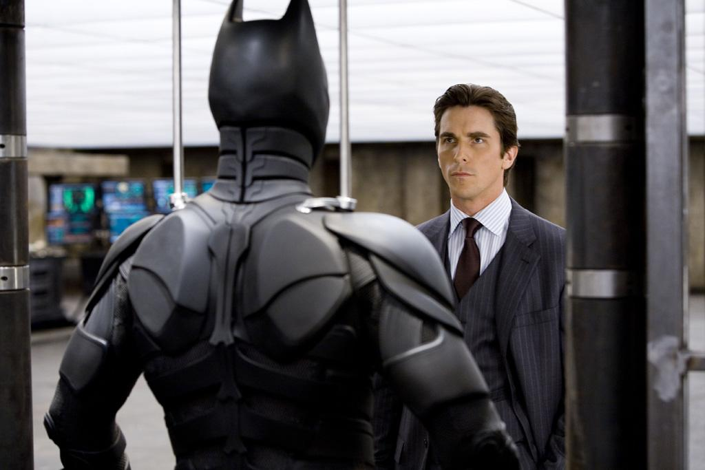 "<a href=""http://movies.yahoo.com/movie/contributor/1800018597"">Christian Bale</a> as Bruce Wayne in Warner Bros. Pictures' <a href=""http://movies.yahoo.com/movie/1809271891/info"">The Dark Knight</a> - 2008"