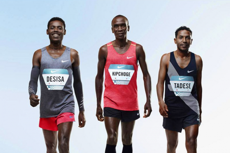 The three runners seeking to break the two-hour marathon mark. (Courtesy Nike)