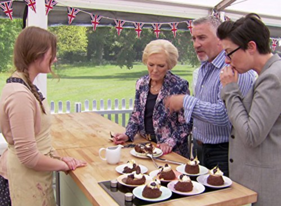 """<p>Days on set are long and grueling for contestants. Over the course of the 10-week filming schedule, contestants are required to film for up to <a href=""""https://closeronline.co.uk/entertainment/tv-movies/great-british-bake-apply-gbbo/"""" rel=""""nofollow noopener"""" target=""""_blank"""" data-ylk=""""slk:16 hours a day"""" class=""""link rapid-noclick-resp"""">16 hours a day</a>.</p>"""