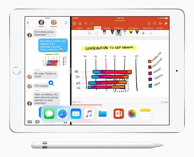 Apple also announced updates for Pages, Numbers and Keynote, which allow for support for the Apple Pencil.