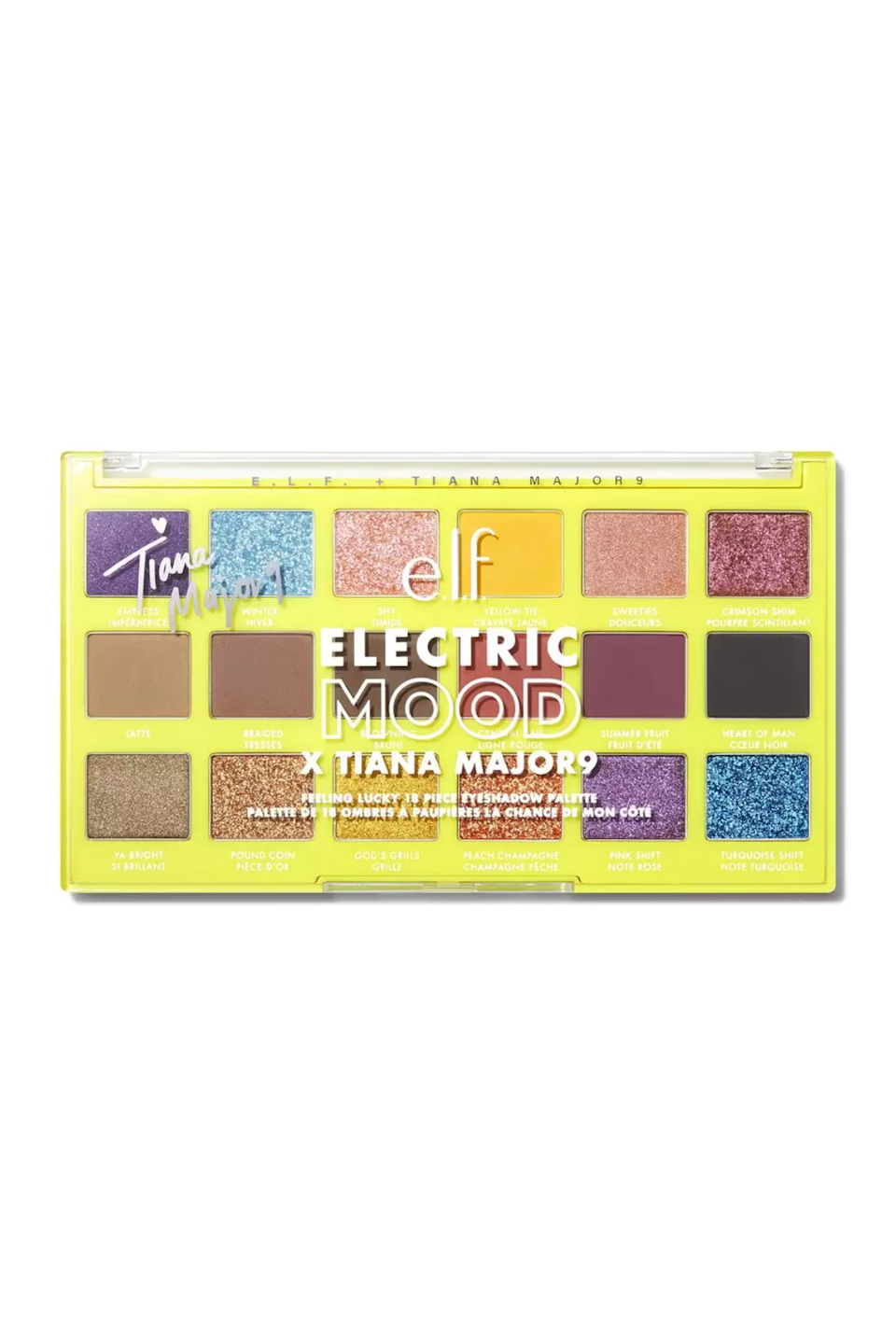 """<p><strong>e.l.f. Cosmetics</strong></p><p>elfcosmetics.com</p><p><strong>$16.00</strong></p><p><a href=""""https://go.redirectingat.com?id=74968X1596630&url=https%3A%2F%2Fwww.elfcosmetics.com%2Felectric-mood-x-tiana-feeling-lucky-eyeshadow-palette%2F82570.html&sref=https%3A%2F%2Fwww.seventeen.com%2Fbeauty%2Fmakeup-skincare%2Fg36866431%2Fbest-elf-makeup-skincare-products%2F"""" rel=""""nofollow noopener"""" target=""""_blank"""" data-ylk=""""slk:Shop Now"""" class=""""link rapid-noclick-resp"""">Shop Now</a></p><p>E.L.F.'s limited-edition Electric Mood collection in collaboration with artists like Tove Lo, Tiana Major9 and Pitizion are based on their respected music genres. Tiana's Feeling Lucky eyeshadow palette pulls inspo from the glimmering sounds in future-facing R&B, soul and hip-hop.</p>"""