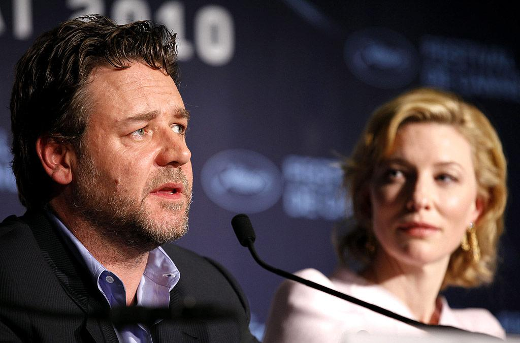 "Russell Crowe was doing so well at Cannes this year. He was gracious on the red carpet at the ""Robin Hood"" premiere. There were no phones in sight ... and then it all unraveled Wednesday when a BBC reporter questioned if there was a hint of an Irish accent in his latest big screen character. ""You've got dead ears mate if you think there's an Irish accent,"" Crowe responded before walking out of the interview. Jean Baptiste Lacroix/<a href=""http://www.wireimage.com"" target=""new"">WireImage.com</a> - May 12, 2010"