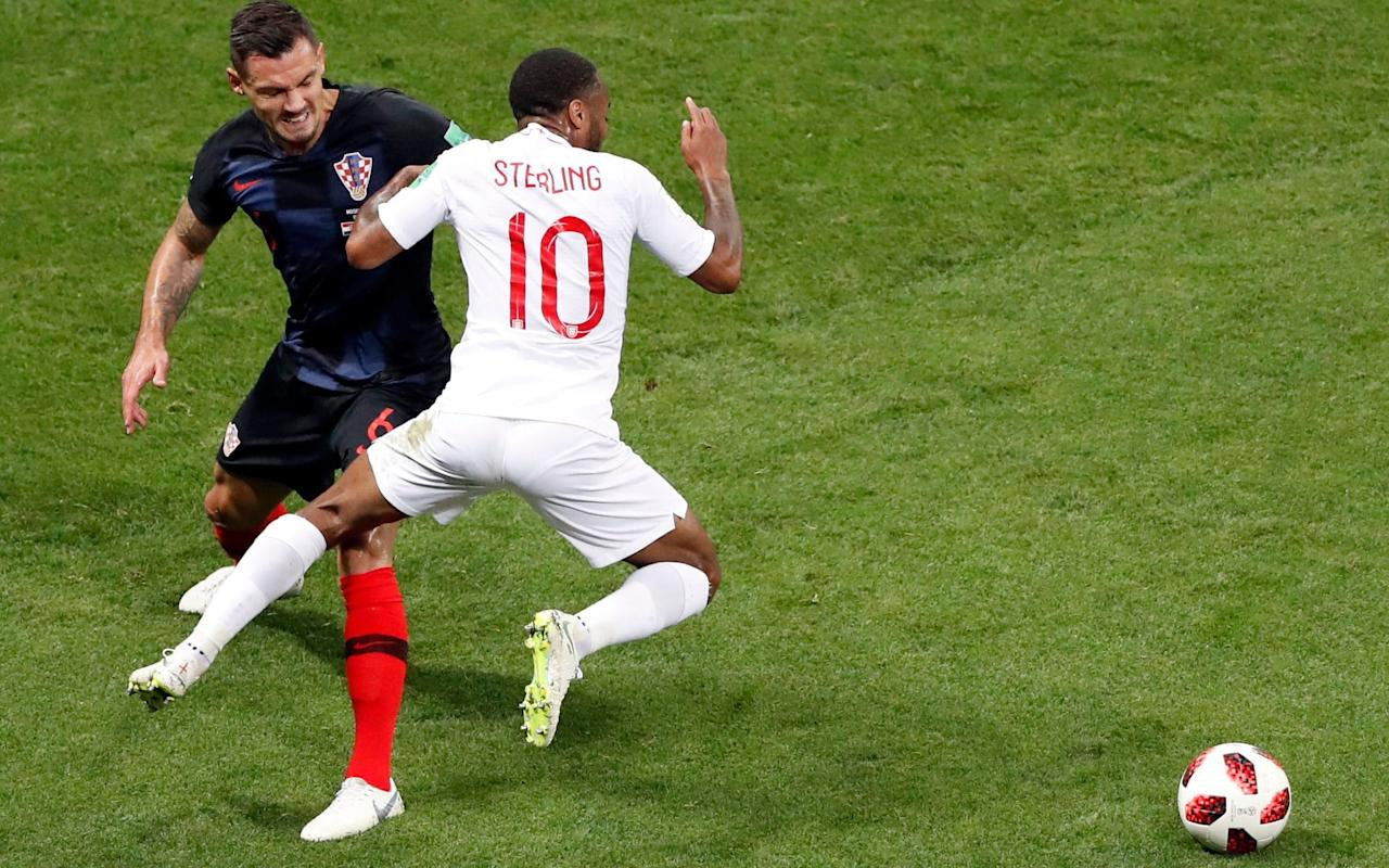 """ 8:52PM Analysis England are lucky to still be in this, in one sense. Croatia were having it away there. That said, the Croatian defence has plenty of weaknesses too. Both managers have plenty of cards left to play. Pretty unprecedented situation here: there are still 7 (SEVEN) subs still to be used in extra-time.— Michael Cox (@Zonal_Marking) July 11, 2018 8:51PM End of normal time: Croatia 1 England 1 Strinic, to Perisic... Walker with a timely intervention. And that is the end of 90 minutes! 8:48PM 90 mins: Croatia 1 England 1       Lovely feet from Rashford as he gets Trippier's throw. Chopped down by Rakitic. Freekick in an ideal spot. Trippier delivers on 90 mins Credit: ITV Decent opportunity for Harry Kane! But he muffs the header. Shame. Not at his sharpest tonight. 8:47PM 89 mins: Croatia 1 England 1       89 on the clock and the Croats passing it around ominously. England cannot get a look in. Lucky for them, the sub-standard Lovren gets involved, and donkeys it over the bar. Row ZZ. 3 minutes added. 8:46PM 88 mins: Croatia 1 England 1      Mandzukic, classy touch, opens it up for Rebic, whose pass is.... appalling. My mum has just turned off the #ENGvCRO match as it was """"too much stress"""" and we are now watching 24 Hours In A and E...— MeeraSyal (@MeeraSyal) July 11, 2018 8:45PM 87 mins: Croatia 1 England 1      You cannot fault the English heart. They are giving everything. Lingard fighting like a tiger to get the ball from Strinic. 8:44PM 86 mins: Croatia 1 England 1     Oooh! Alli to Kane, tries to find Lingard... so close from spinning away from his man and onto the ball. 8:43PM 84 mins: Croatia 1 England 1     Pickford fails to deal with a lofted ball. Flaps. Perisic! He cannot loft it into the vulnerable net. 8:42PM 82 mins: Croatia 1 England 1    Mandzukic is starting to make his presence felt. Excellent control and a shot when Brozovic picks him out. Straight at Pickford. England look rattled and like they need someone to put their foot on the bal"""