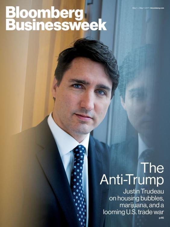 A May 2017 Bloomberg Businessweek front page featuring Canadian prime minister Justin Trudeau (Bloomberg)