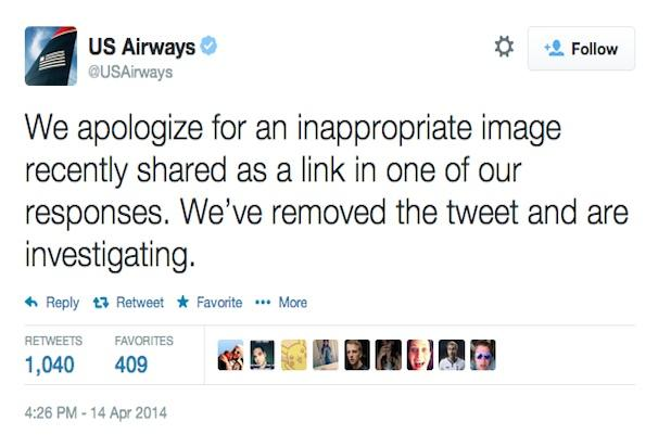 US Airways Apologizes for X-Rated Twitter Photo