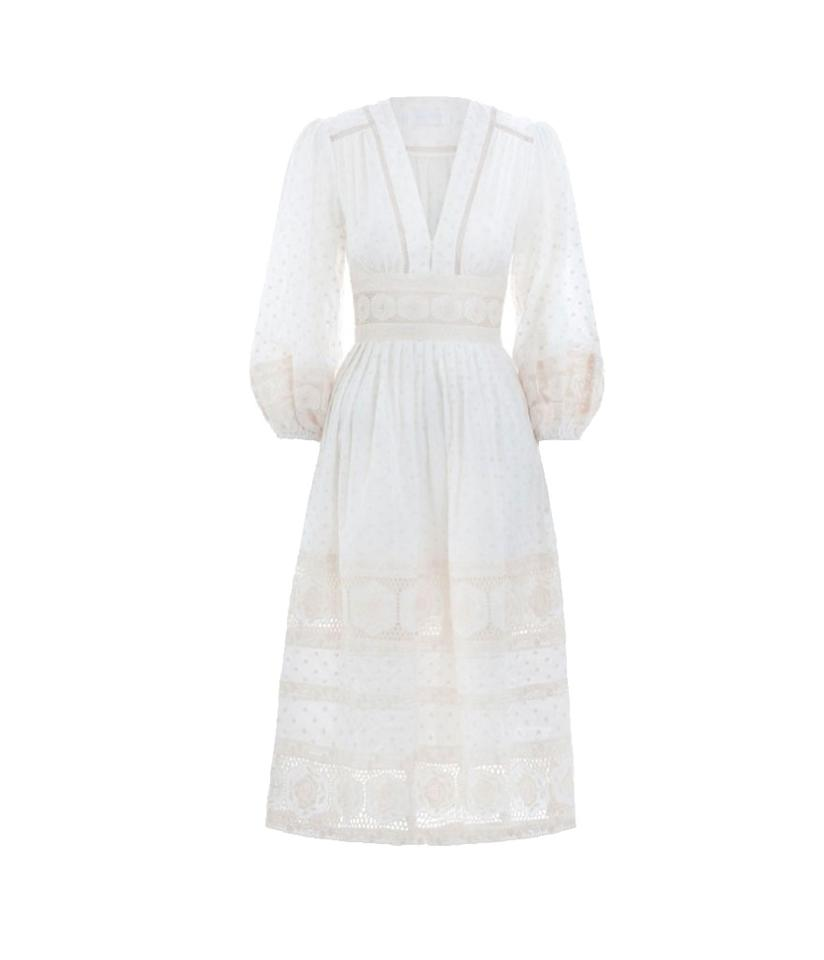 "<p>Prima Dot Broiderie Day Dress, $795, <a rel=""nofollow"" href=""https://us.zimmermannwear.com/prima-dot-broiderie-day-dress-ivory.html?utm_source=google&utm_medium=cpc&utm_campaign=zimmermann_gs_us&gclid=EAIaIQobChMIgJrP07z11gIVBV6GCh0tPw6zEAYYASABEgKhyfD_BwE"">zimmermannwear.com</a> </p>"
