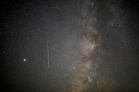 <p>The skies above Israel were lit up as the Earth ploughed through the galactic debris left discarded by the passing of the Swift-Tuttle Comet (Reuters) </p>