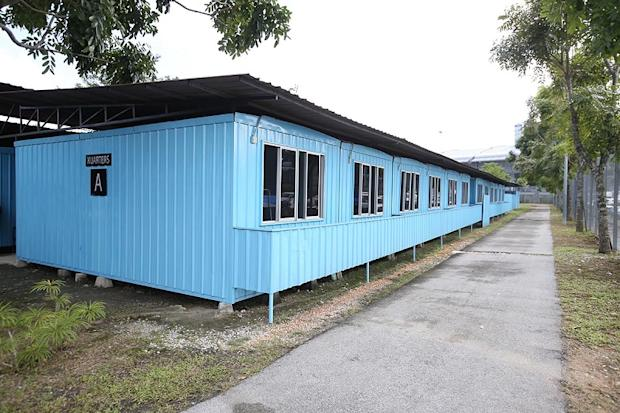 A general view of living space for workers at the the Centralised Labour Quarters in Sungai Buloh January 18, 2018.