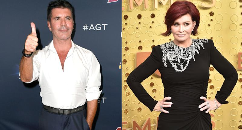 Simon Cowell and Sharon Osbourne have apparently ended their feud. (Photo: Getty Images)