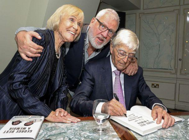 PHOTO: Lady Mary Parkinson, Founder and CEO of Ted Baker, Ray Kelvin and Sir Michael Parkinson attend the launch of new book 'George Best: A Memoir' by Sir Michael Parkinson, Nov. 12, 2018, in London. (Dave Benett/Getty Images)