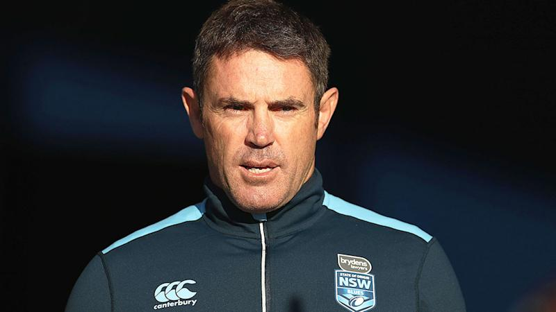 Pictured here, NSW State of Origin coach Brad Fittler has been a strong supporter of league's resumption.