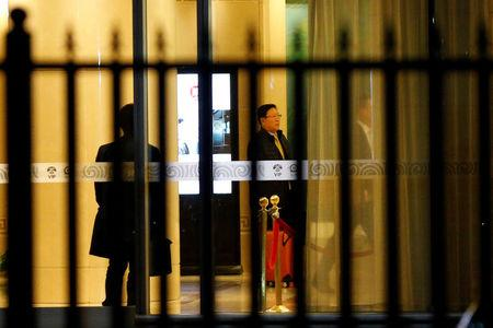 North Korean Ambassador to Malaysia Kang Chol arrives at the VIP exit of the Beijing Capital International Airport in Beijing, China March 7, 2017. REUTERS/Tyrone Siu