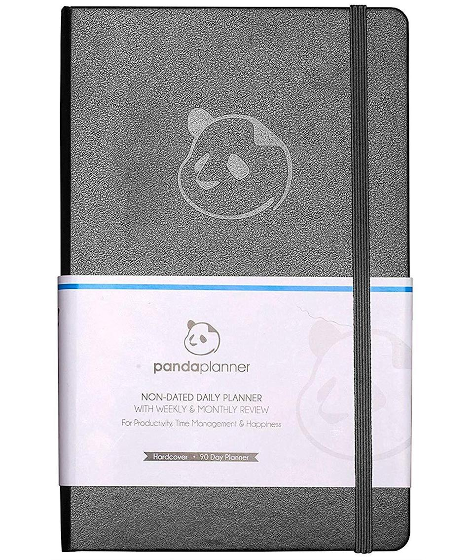 """<h3><a href=""""https://amzn.to/2QjzVO2"""" rel=""""nofollow noopener"""" target=""""_blank"""" data-ylk=""""slk:Daily Panda Planner"""" class=""""link rapid-noclick-resp"""">Daily Panda Planner</a></h3><br>This top-rated Amazon purchase is a best-selling planner that takes a scientific approach towards increased productivity and happiness within its yearly, monthly, and down-to-the-daily structured layout. <br><br><strong>Panda Planner</strong> Daily Planner 2021, $, available at <a href=""""https://amzn.to/2QjzVO2"""" rel=""""nofollow noopener"""" target=""""_blank"""" data-ylk=""""slk:Amazon"""" class=""""link rapid-noclick-resp"""">Amazon</a>"""