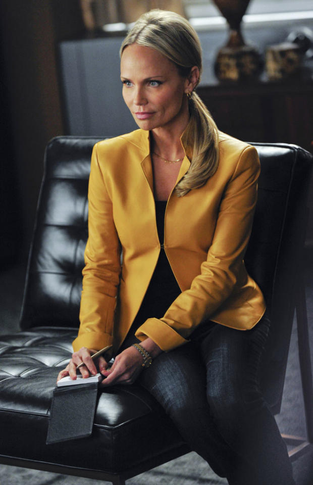 """Emmy Award and Tony Award-winning actress Kristin Chenoweth guest stars on """"The Good Wife,"""" matching wits with both Alicia and Peter in her role as a top-of-her-game political reporter who wants to know more about the Florrick campaign and marriage."""