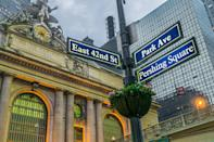 <p>The boys make their way to the intersection between Park Avenue and East 42nd Street by the Grand Central Terminal. While Chris and LJ's snaps give us views of the stunning interior, the boys are out on the street by Pershing Square. </p>