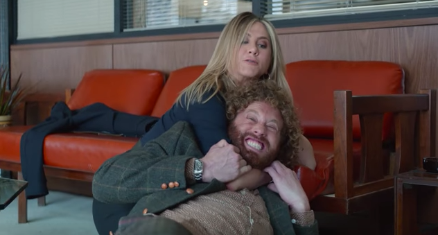 Jennifer Aniston and T.J. Miller in 'Office Christmas Party' (Paramount)