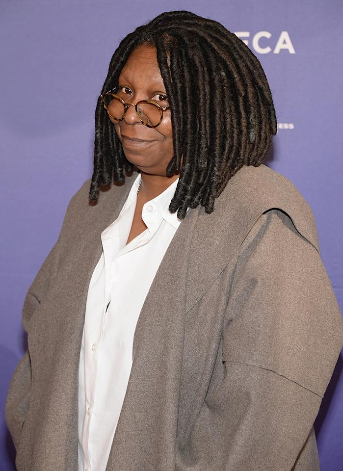 "NEW YORK, NY - APRIL 20:  Whoopi Goldberg attends the ""I Got Somethin' To Tell You"" World Premiere during the 2013 Tribeca Film Festival on April 20, 2013 in New York City.  (Photo by Andrew H. Walker/Getty Images for Tribeca Film Festival)"