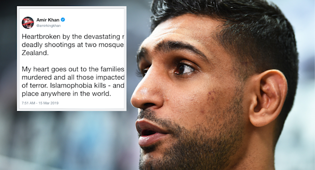 Boxer Amir Khan was left devastated by the news of terror attacks on mosques in New Zealand
