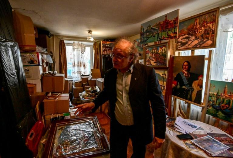 65-year-old Sergei Alexandrov is one of hundreds of artists in Moscow who risk losing their studios under an ambitious urban renewal project