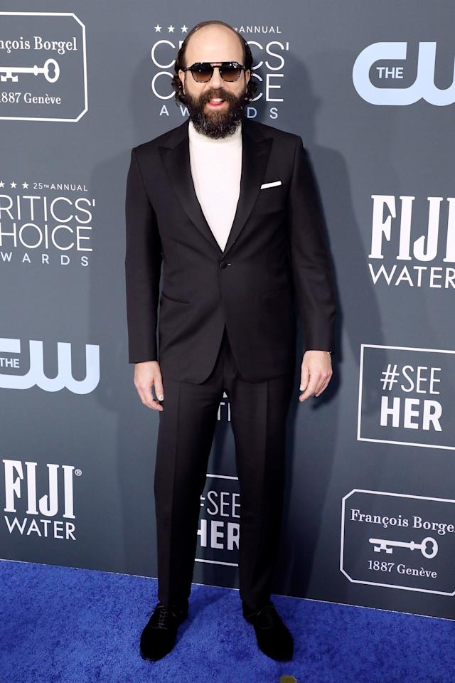 """<p>WHAT: Canali</p> <p>WHERE: The Critics' Choice Awards</p> <p>WHEN: January 12, 2020</p> <p>WHY: When the inspiration for your look is """"<a href=""""https://www.instagram.com/p/B7PUmbwjoHE/"""">classic Jack Nicholson</a>,"""" how wrong can you really go?</p>"""